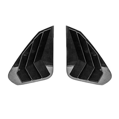 YNWW Marco Decorativo De Coche para Toyota Rav4 2019 2020, 2 Piezas De Fibra De Carbono para Coche, Cubierta De Pala para Ventana Lateral, Cubierta De Rejilla para Ventilación