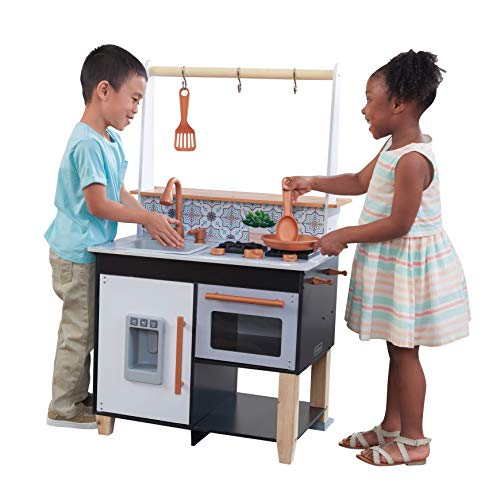 KidKraft 53441 Cuisine Enfant Artisan Island avec EZ Kraft Assembly, Bleu