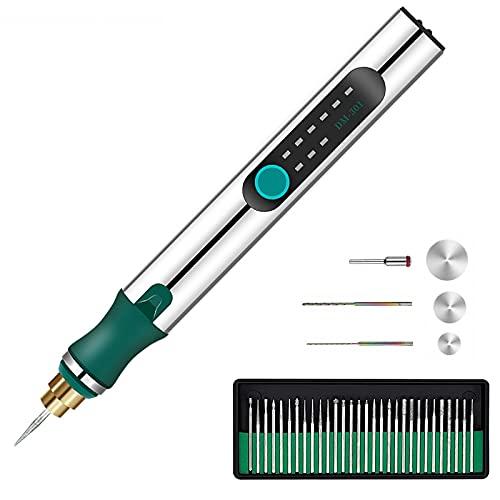 Penna Per Incisione Portatile Senza Fili, USB Mini Ricaricabile Strumenti Per Incisione, Elettrica Incisioni Penna Per Gioielli In Legno, Vetro, Metallo, Plastica, Ceramica