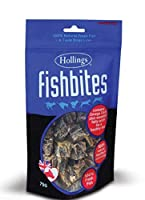 FREE POSTAGE & PACKING 100% NATURAL - FISH BITES 75G PER PACK - TASTY 100% NATURAL DOG TREAT. HOLLINGS FISH BITES ARE 100% NATURAL, QUALITY AIRDRIED TREATS FOR YOUR DOG. TASTY, NUTRITIOUS AND A FIRM FAVOURITE WITH YOUR PET. USE AS A TREAT OR A TRAINI...