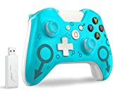Wireless Controller für Xbox One, Wireless PC Gamepad mit 2.4GHz Wireless Adapter Kompatibel mit Xbox One/One S/One X/Windows 7/8/10, Blau (keine Audio Jack)