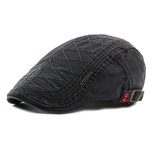 Fashion Peaked Hat Lässige Englische Baskenmütze Einstellbar 56-59cm Grau