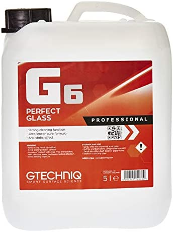 Gtechniq G6 Perfect Glass 500ml - Streak Free Glass Cleaner Polish Clean Any Glass Surface - Pure Formula Solvent and Fragrance Free - High Performance Ingredients Leaves No Smears or Streaks