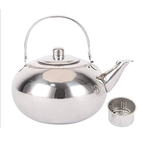 Ericcay Teekanne Edelstahl Kaffeekanne Kaffeekrug Wasserkessel Mit Einfacher Stil Sieb Set 2 L Teekanne Bequem Wärmer Vintage Orientalisch Design Style (Color : Colour, Size : 2 L)