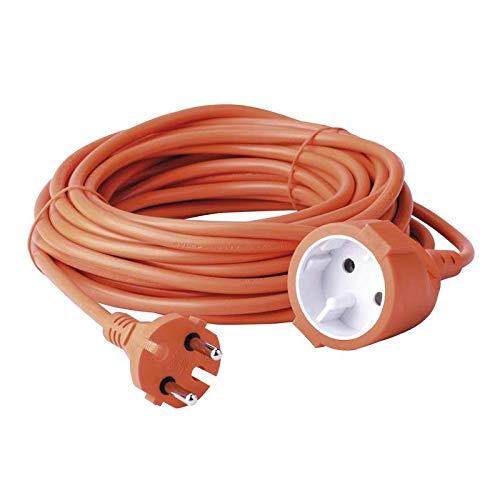 Cable Extension Alargadera Alargador 15 Metros para 230 V, Color Naranja
