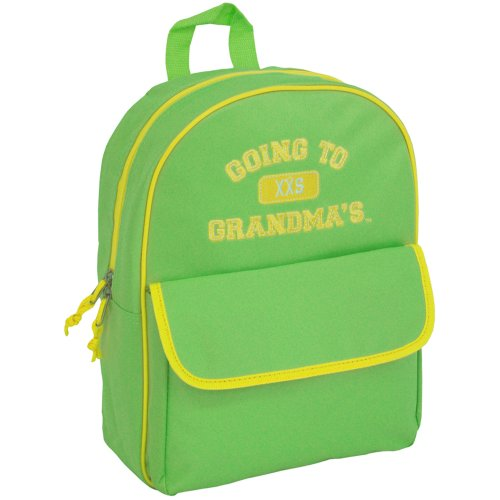 Mercury Going to Grandma's Backpack, Childrens Luggage, Small, Green