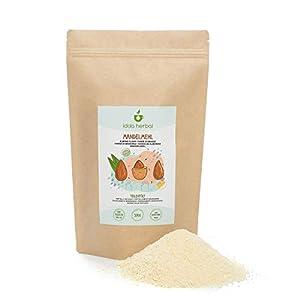 Harina de almendras (500g), almendras parcialmente desengrasadas y molidas, 100% natural, secadas suavemente, sin aditivos, vegano, almendra en polvo
