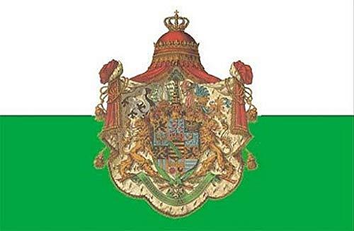 Fanshop Lünen Fahne Flagge Sachsen Königreich 90x150 cm Hißfahne Hissfahne mit Ösen Flaggen Flag