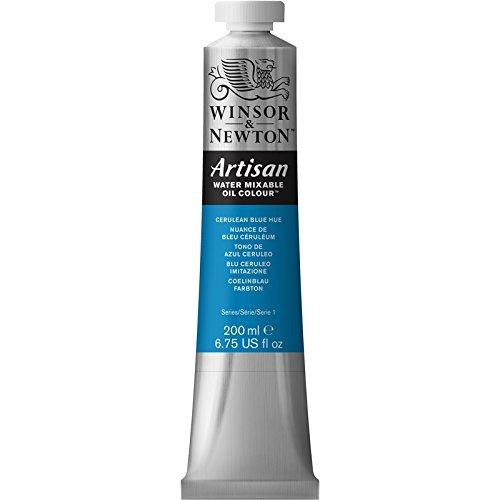 Winsor & Newton Artisan - Tubo óleo miscible en agua, 200 ml, tono azul cerúleo