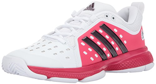 adidas Women's Shoes | Barricade Classic Bounce Tennis, White/Dark Burgundy/Energy Pink, (10.5 M US)