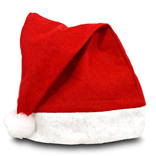 Idena 8580150 Nikolausmütze, Weihnachtsmann, Santa Claus, für Erwachsene, rot