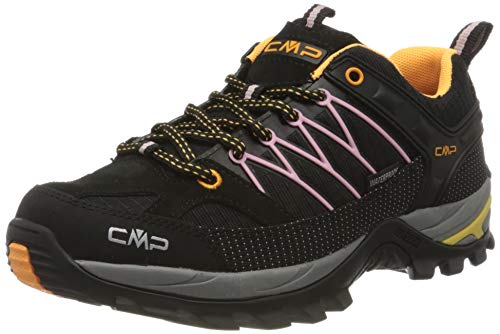 CMP – F.lli Campagnolo Damen Rigel Low Wmn Shoe Wp Trekking-& Wanderhalbschuhe, Schwarz (Nero-Pastel PINK 31TE), 41 EU
