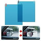 Joyfulstore- 2Pcs 170 * 200Mm Car Anti Water Anti Fog Window Film Window Protective Film Rainproof Rearview Mirror Car Accessories