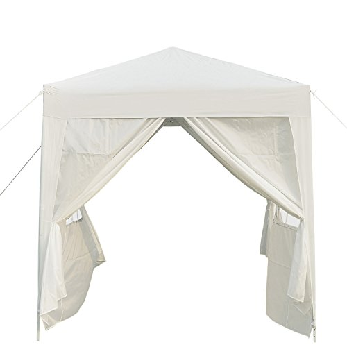 Outsunny 2m x 2m Garden Pop Up Gazebo Marquee Party Tent Wedding Awning Canopy New With free Carrying Case White + Removable 2 Walls 2 Windows