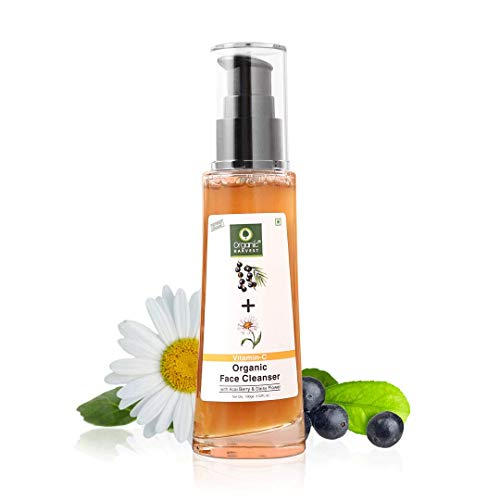 Organic Harvest Skin Illuminate Vitamin C Cleanser Face Wash for Tightening, Whitening & Brightening Skin, Infused With Acai Berry and Daisy Flower, 100% Organic, Paraben & Sulphate Free – 100ml