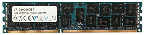 V7 V71060016GBR Server DDR3 DIMM Arbeitsspeicher 16GB (1333MHZ, CL9, PC3-10600, 240pin, 1.35 Volt, Registered ECC)
