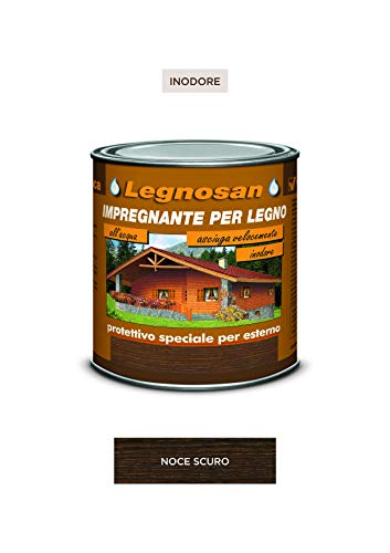 Veleca Legnosan, nogal oscuro – ml. 750 impregnante para madera al agua sin olor.