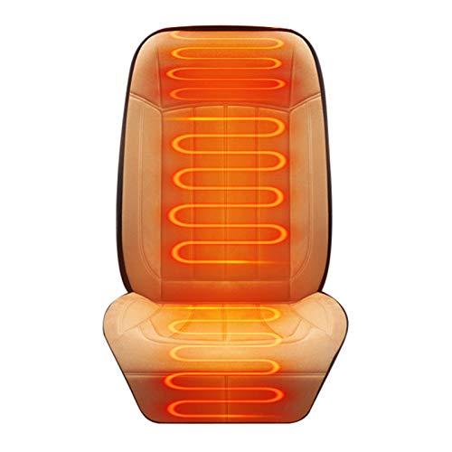 Auto Sitzheizung Auflage Beheizbare Kissen Heizkissen mit Zeit Temperatur Kontrolleur Universal Beheizte Sitzauflage 12V/24V Winterreisen Bequemer Warmer Gemütlicher Sitzwärmer Sitzbezug für Stuhl
