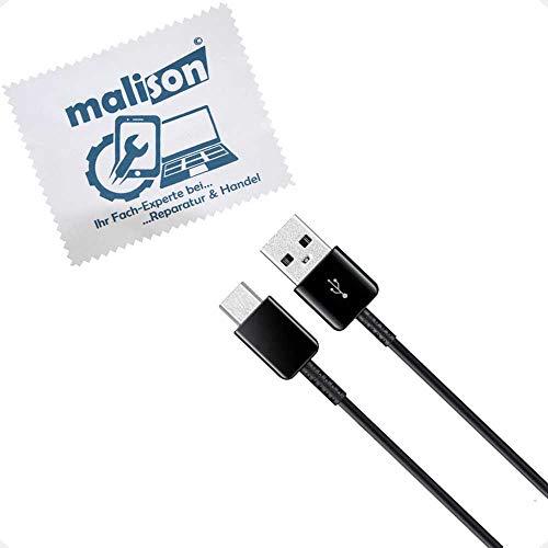 Cargador para Original Samsung para Galaxy S8, S8+ Plus, S9, S9+ Plus, S10 (5G / Lite), S10+ Plus rápido Cable de Carga USB Tipo-C [con maIison bayeta-Limpia] Cable 1.2m (sin Cargador) Negro