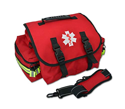 Lightning X Small EMT Medic First Responder Trauma EMS Jump Bag w/Dividers (Red)