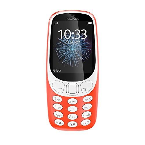 Nokia 3310 2G Mobiltelefon (2,4 Zoll Farbdisplay, 2MP Kamera, Bluetooth, Radio, MP3 Player, Dual Sim) warm red