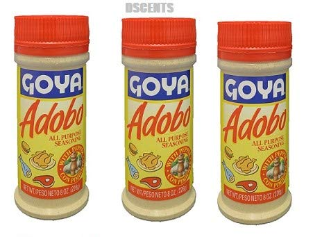 Goya Adobo All Purpose Seasoning, 8 Ounces (Pack of 3)
