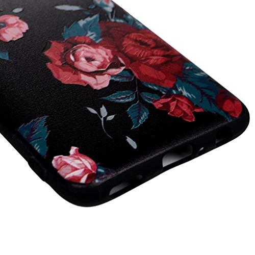 Vogu'SaNa Handyhülle Kompatible mit Huawei P smart 2019 Hülle Silikon Honor 10 lite Case Cover Malen Muster Tasche Dünn Schutzhülle Handytasche Skin Softcase Schale Bumper TPU Handycover-Rose - 6