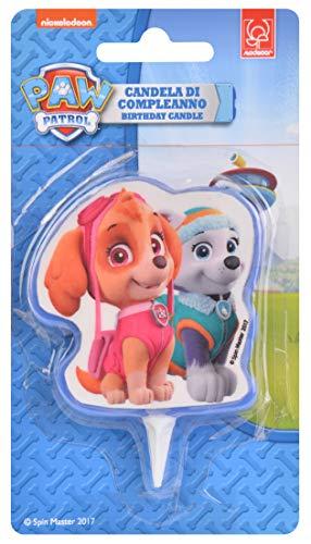 Vela para tarta de cumpleaños 2D de Skye y Everest de la Patrulla Canina, producto oficial de Modecor