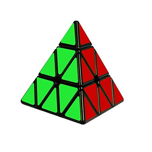 Cooja Cubo Triangular Pyraminx, 3x3 Cubo Magico Triangulo Rompecabezas Cubos de Velocidad Negro