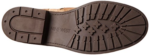 Nine West Women's Gunner Suede Lace up Ankle Boot, Dark Natural, 6.5 M US