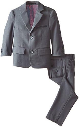 Isaac Mizrahi Little Boys Slim 2 Piece Cut Wool Blend Suit Characoal 7 product image