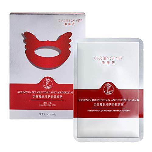 planuuik 10 Stück/Box Anti-Falten Nasolabial Chin Gesichtspads Feuchtigkeitsspendende Anti-Aging-Aufkleber