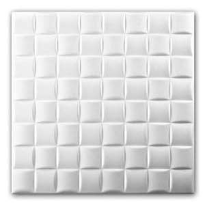Azulejos de techo de espuma de poliestireno (paquete de 88 pc / 22 metros cuadrados) Blanco