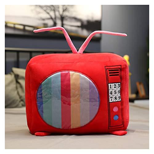 YSQSPWS Juguete de Peluche 1 UNID SIMULACIÓN Radio TELEVISIÓN TELEVISIÓN TIRY TEJEROS con MANTES Relleno Sofá Suave Almohada Muñecas Regalo de cumpleaños (Color : 2, Height : 40CM)