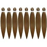 "ROSDINA Pre Stretched Braiding Hair 26 Inch Natural Hair Extension Braiding Hair Pre-Stretched Professional Synthetic Fiber Crochet Hair for Braid Twist ( 26"" 8PCS, 27# )"
