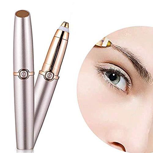 Augenbrauen Haarentferner, Milai Elektrische Augenbrauen Rasierer Trimmer Epilierer Für Frauen, Tragbare Perfekte Schmerzlose Augenbraue Rasierer Mit Licht (Batterie Nicht Enthalten)
