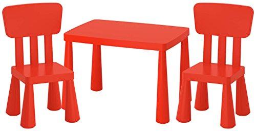 IKEA MAMMUT Kindersitzgruppe Kindertisch +2 Kinderstühle Kindermöbel Tisch Stuhl IK15-CZER
