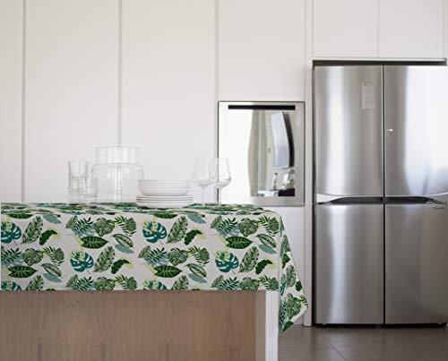 GEMITEX - Mantel de Verano Jungle Felpata Plus 140 x 180 decoración 4107, Ideal para mesas de Exterior, Fiestas y Fiestas, Fabricado en Italia, PVC