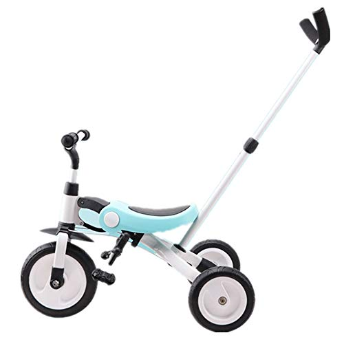 Sale!! Versatile Childrens Folding Tricycle 18 Months to 5 Years Kids Tricycle Detachable and Adjust...