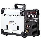 STAHLWERK MIG 135 ST IGBT máquina de soldadura con gas de protección MIG MAG con 135 A, adecuada para FLUX, con MMA soldadura de electrodos, 7 años de garantía