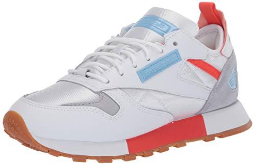 Reebok Reedux Damen Classic Leather Sneaker, Weiá (Weiß/Vivid Orange/Fluid Blue), 41 EU