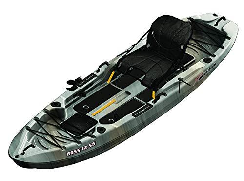 SUNDOLPHIN Sun Dolphin Boss SS Sit-On/Stand On Top Angler Kayak (Gray...