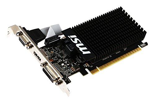MSI NVIDIA GeForce GT710搭載 GDDR3 2GB グラフィックスボード VD5931 GT710 2GD3H LP
