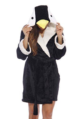 6316-Penguin-S Just Love Critter Robe   Robes for Women, Penguin (Velour), Small