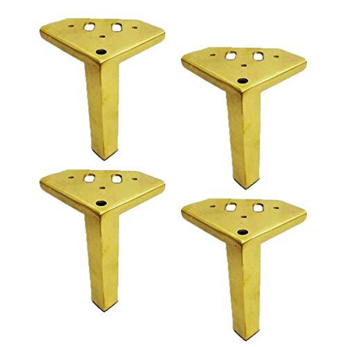4 möbelben, möbelfötter 15 cm ersättningsfötter Guldmöbelstödben Rostfria stålsängar Bäddsoffa Sängbord Köksben Arbetsbänk Bordben, hårdvarumöbler
