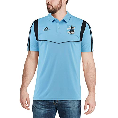 adidas Minnesota United FC Men's Team Logo Coaches Climalite Performance Polo Shirt (Medium)