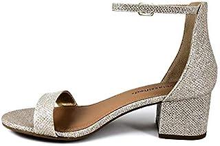 City Classified Women's Block Open Toe Ankle Strap Heeled Sandals