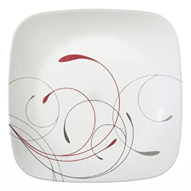 Corelle Square 8.75-Inch Lunch Plate, Splendor, Set of 6