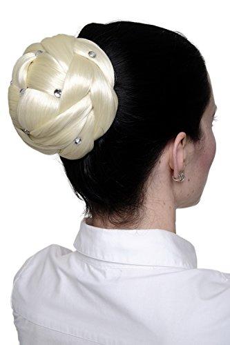 WIG ME UP - Postiche de chignon crêpé volumineux blond platine avec strass/glitter JL-SZ01-613