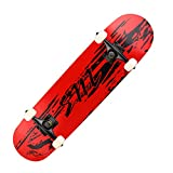 WYYUE Skateboard Cruiser, Longboard 80 × 20cm para Adultos, Niños, Niñas, Principiantes, Skate Board 7 Capas de Arce con Rodamientos De Bolas ABEC-11 Y Bolsa para Patineta